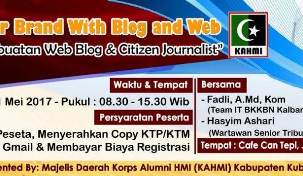 Pelatihan Web Blog dan Citizen Jurnalist