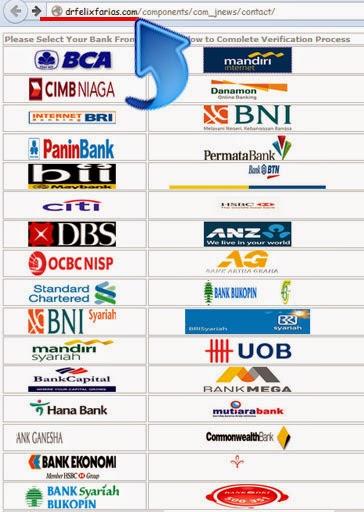 Penipuan: Mengambil Account Bank melalui Internet
