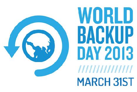 Hari Backup Sedunia jatuh pada tanggal 31 Maret 2013