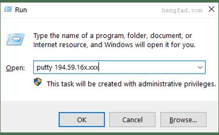 Windows + R menampilkan RUN