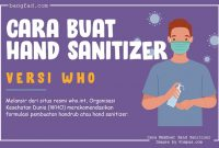 Cara membuat Hand Sanitizer dengan standar WHO