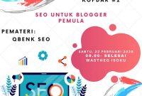 """Kopdar Blogger Pontianak angkat tema """"Teknik SEO Bagi Pemula"""""""
