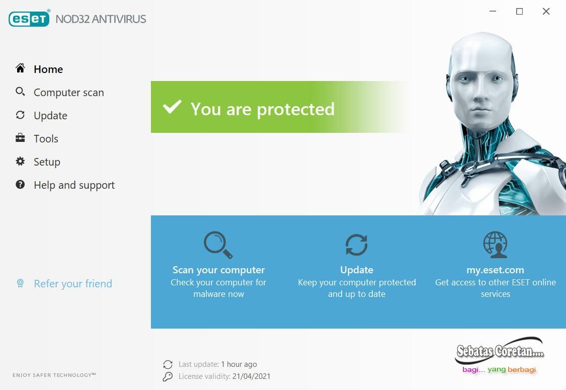 ESET NOD32, Antivirus Ringan dilengkapi dengan Fitur Anti Maling