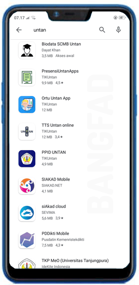 Untan Google Applikasi Mobile